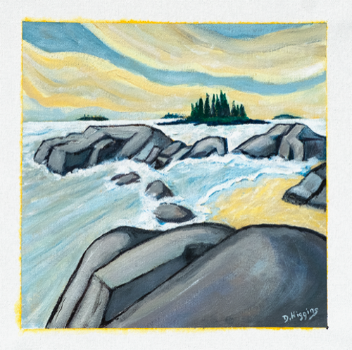 Sand Beach #3, Stonington, Maine 12x12